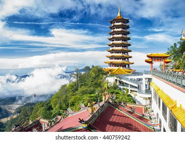 scenery from a top Chin Swee Temple at Genting Highland in Malaysia