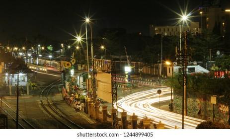 scenery trafic light in city
