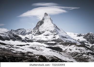 Scenery view to Matterhorn mountain, Zermatt, Switzerland