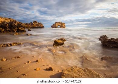 The scenery view of Sorrento Back beach in Mornington Peninsula of Victoria state of Australia.