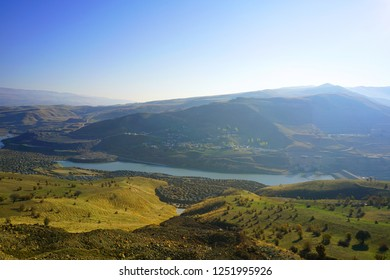 Scenery views from Murat river at Mus, Turkey