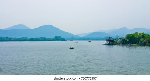 Scenery of west lake hangzhou china