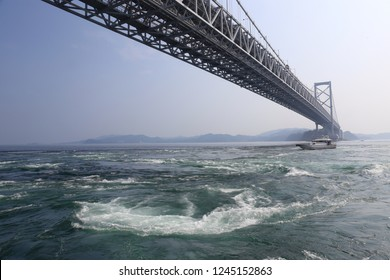 Scenery of the whirlpool tide of Naruto in Tokushima prefecture of Japan