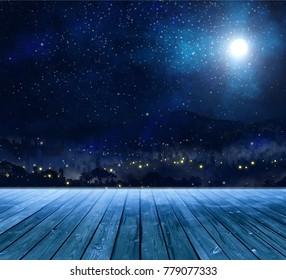 scenery in winter tonight