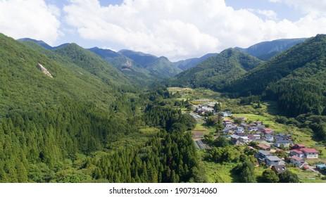 Scenery of Yamadera, Yamagata Prefecture, Japan