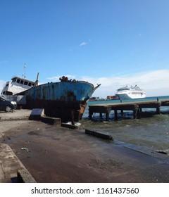 Scenes of central Honiara, Solomon Islands.