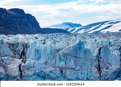 scenes of glaciers and ice taken in Svalbard Norway just 600 miles from the North Pole