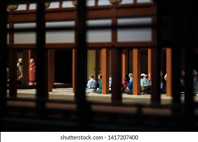 Scenes from a Japanese Diorama depicting life in the Edo period