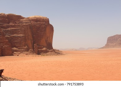 Scenes from Wadi Rum National Park, Jordan, Red Rocks and Sand, Landscape shots (setting of Lawrence of Arabia)