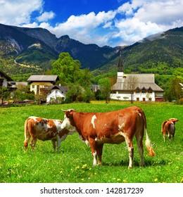 scenic Alpine countryside
