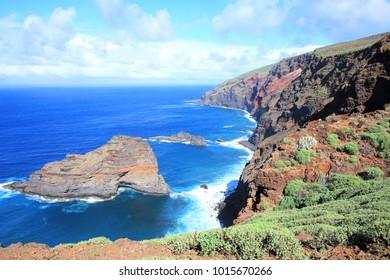 Scenic Atlantic Coast on La Palma Island, Canary Islands, Spain