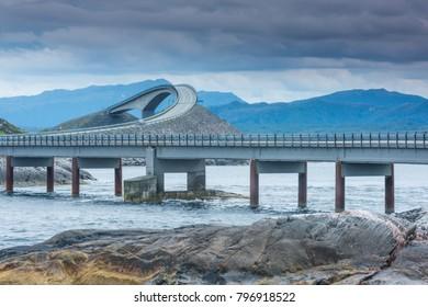 Scenic Atlantic ocean road, Norway
