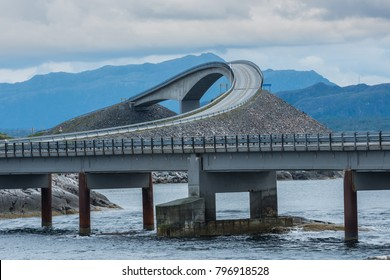 Scenic Atlantic ocean road, Norway