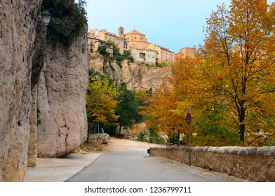 Scenic autumn view of Cuenca city in Spain