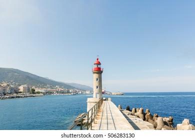 scenic of Bastia,Corsica,France.