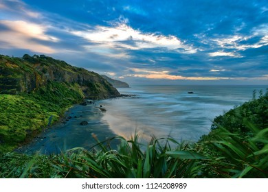 Scenic bay at Muriwai, Auckland in New Zealand
