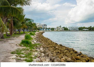 Scenic bay view from Haulover Park in North Miami Beach
