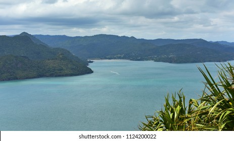 Scenic bays at Manukau Heads in North Island, New Zealand