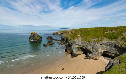 Scenic beach and rocky cliffs on the west coast of County Kerry, The wild Atlantic way, Ireland