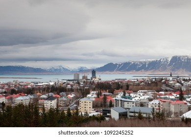 The scenic beauty of the city of Reykjavik in Iceland