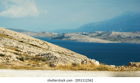 A Scenic beauty, landscape Scene, View of hills and green mountains with blue sky and clouds. High quality photo