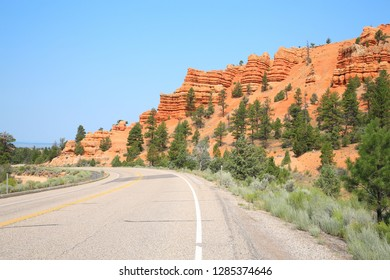 Scenic Byway Route 12 in Red Canyon, Dixie National Forest, Utah, USA