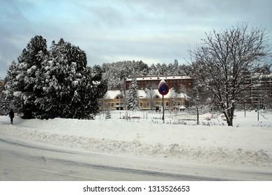 Scenic city landscape of Kuopio, Finland