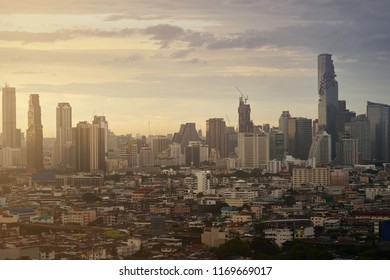 scenic of cityscape skyline and building metropolis