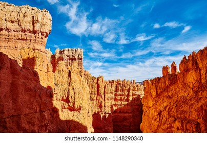 Scenic cliffs in the Bryce Canyon National Park, Utah, USA.