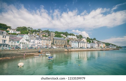 Scenic coastal town on the north side of the estuary of the River Dyfi in Aberdyfi, on the West Coast of Wales, UK
