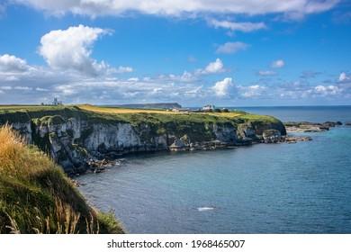 Scenic coastline of Giants Causeway in Northern Ireland - Shutterstock ID 1968465007