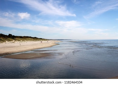 Scenic dunes and beach of Baltic Sea, Curonian Spit, Lithuania