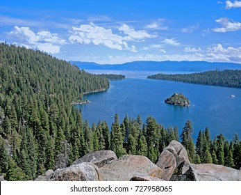 Scenic Emerald Cove is perhaps the most beautiful spot on Lake Tahoe.