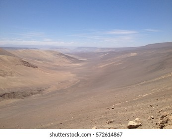 scenic endless landscape in South America