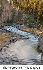 Scenic Firehole River Yellowstone National Park