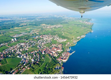Scenic flight with the Zeppelin NT is an unforgettable experience. Zeppelin flight on Lake Constance, Germany