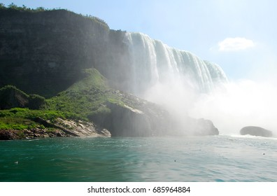 Scenic Horseshoe Waterfall in Niagara Falls New York USA