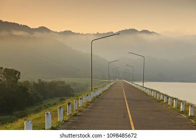 The scenic of the Kui Buri Reservoir in Kui Buri National Park Prachuap Khiri Khan Province, Thailand