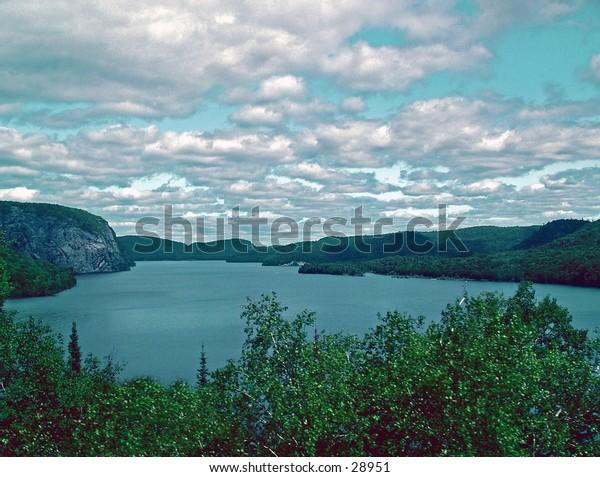 Scenic lake In Canada.