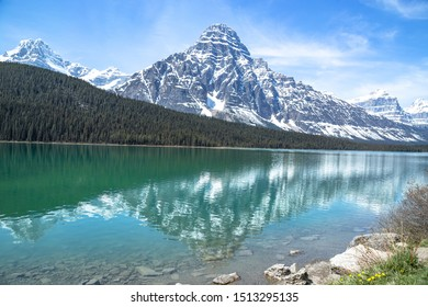 Scenic lake in the mountains