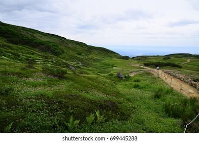 Scenic landscape in Daisetsuzan National Park, Hokkaido, Japan during summer season.
