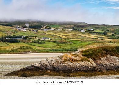 Scenic landscape of Irish countryside, Co. Donegal, Ireland.