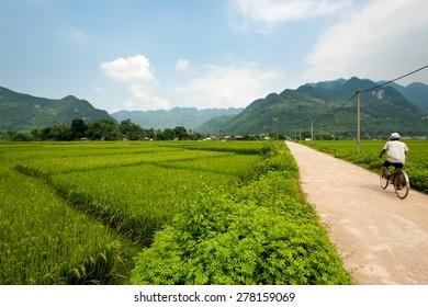 Scenic landscape of Mai Chau, Vietnam