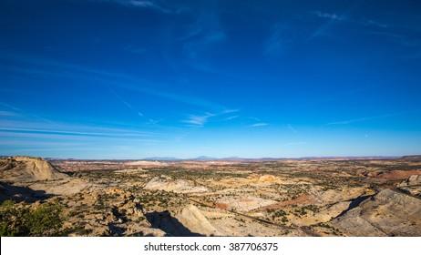 Scenic landscape near Bi-way 12 in Utah, USA.