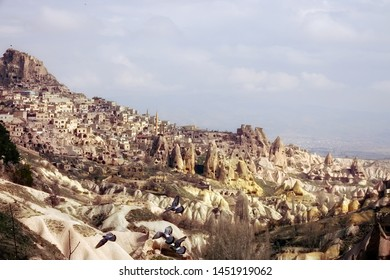 scenic landscape of old town of Cappadocia in middle east Turkey