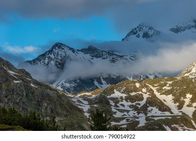 A scenic landscape on the breathtakingly beautiful Susten Pass, Switzerland.