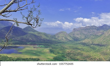 scenic landscape of palani hills at kodaikanal hill station in tamilnadu, india. palani hills is a part of western ghats mountains range in deccan plateau
