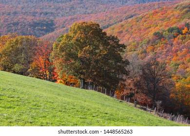 Scenic landscape in rural West Virginia