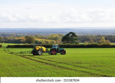 Scenic Landscape View of Farmland in Wiltshire England