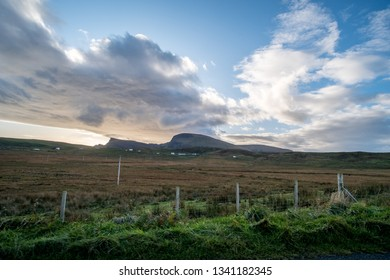 Scenic Landscape View of Mountain, Forest in Scottish Highlands.